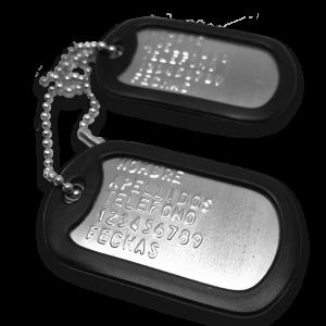 Placas de Identificación de acero inoxidable Plateado | BrazaVip